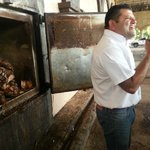 Our knowledgeable guide - We tasted the cooked tequila plant