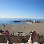 Feet Photo overlooking the beach