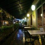 Outside veranda at Hotel Don Carlos