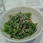 salad with seaweed and sesame...!