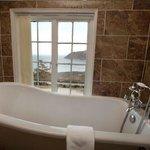 C S Lewis Suite with magnificent sea views and en suite bathroom with Slipper bath