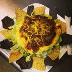 Incredible GLUTEN FREE chili-egg-taco salad!