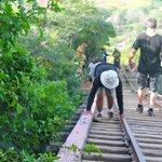 Crossing the bridge with no bottom