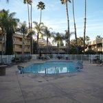中庭と温水プール