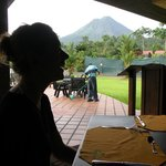 Arenal volcano view from the restaurant