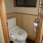Toilet (cold floor, warm seat)