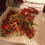aragosta con cruditè di verdure