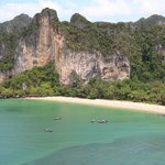 The view from the other side as you come out of the cave. This is Railay beach and the tiger wal