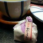 Dessert and green tea