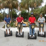 Segway Tour stop at the Naples Pier