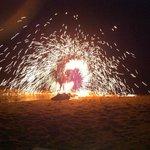 Beach Barbecue mit fire-show