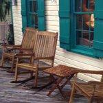 Outdoor porch with rockers