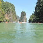 Seeing the caves on a sea canoe