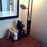 coffee pot by window