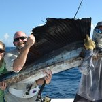 One of five sailfish for the day