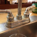 faucet is all covered with rust