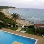Hotel Santo Tomas Blick vom Balkon (des Exklusivzimmers) nach links