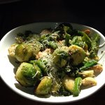 Sautéed Brussels Sprouts with Cashews and Asparagus