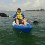 Kayaking off Miami during tour