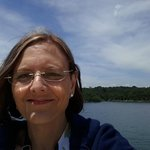 This is me on the top deck of the Branson Belle beautiful scenery!