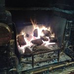 Only thing warmer than the service - the roaring log fire :)
