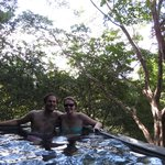 Plunge pool on our deck
