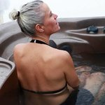 Outdoor Hot tub just out the door