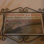 """Ristorante segnalato su """"Osterie d'Italia"""" Slow Food."""