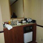 Sink near fridge & microwave, RM 229