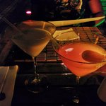 tangerine and coconut martinis