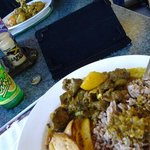 Curry goat and ting