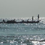 a working boat on the Bay of Bengal