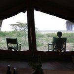 Our tent (number 1) nothing in sight front and side but thousands of acres of Serengeti