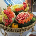 fruit at the weding