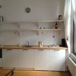Kitchenette with coffee machine, microwave etc.