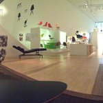 View inside the Charles & Ray Eames exhibit.