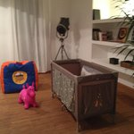 bebeconfort traveling cot and toys for our little one