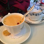 Lobster bisque and tea...yummy!