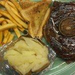 16 oz hand cut ribeye steak.
