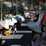View of the market on Calle Satander from our room.