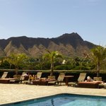 Diamond Head from pool/dining deck on roof