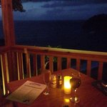Our table overlooking the bay of Castara