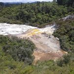 view over top end of silica flows