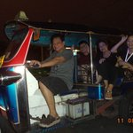 Riding Tuk Tuk straight to Kao San Road