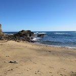 the beach near to the posada