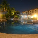 Spectacular View of a beautiful Evening by the Pool