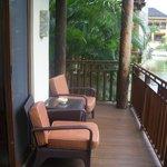 Spacious deck overlooking lagoon