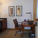 mini bar and desk