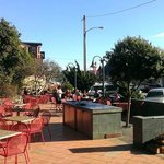 outdoor seating at Main Street Grill Cambria