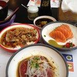 day one Sashimi dishes